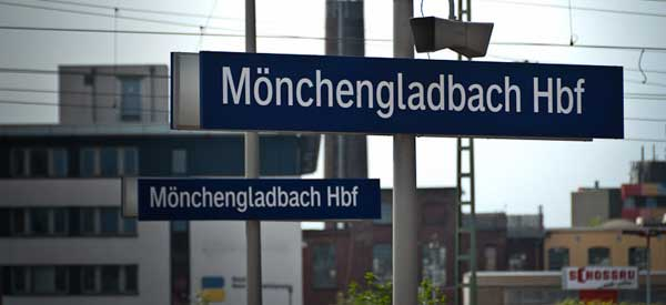Monchengladbach Railway Sign.