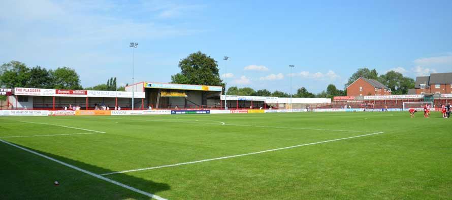 Moss Lane Stadium pitch