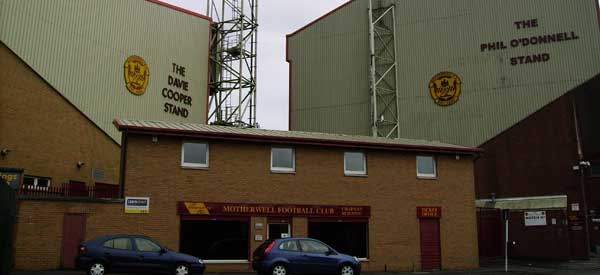 Outside Motherwell's Stadium.