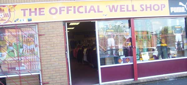 Exterior of Motherwell Club shop