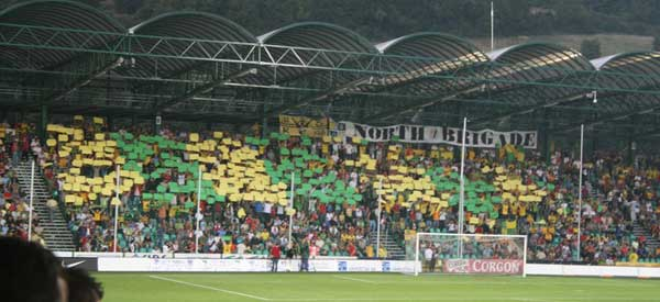 MSK Zilina fans inside Stadion pod Dubnom