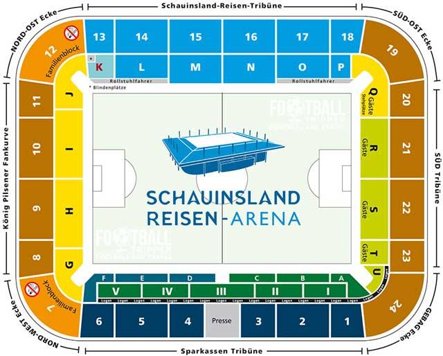MSV Arena seating plan