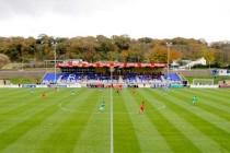 Main stand of Nantporth stadium