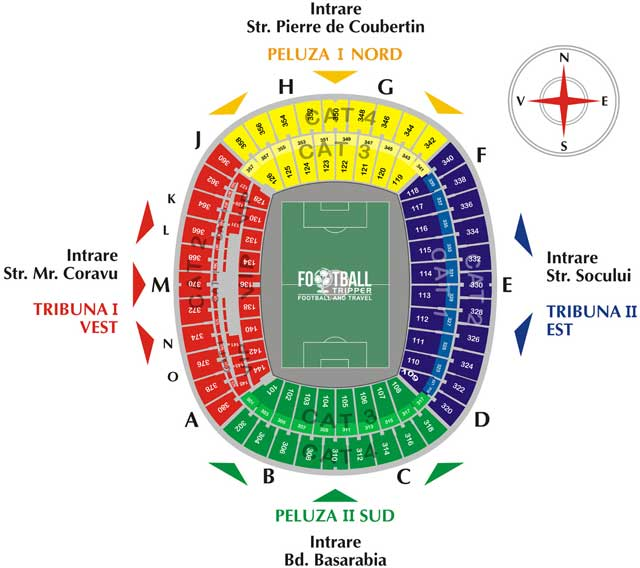 Romanian National Arena seating Plan
