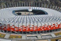 Aerial view of Poland's national stadium