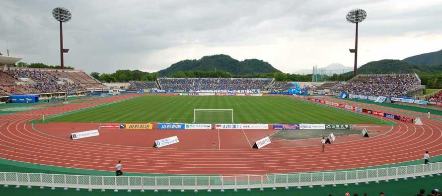 Inside view of Yamagata Park Stadium