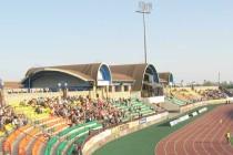 The main stand at Neman Stadion