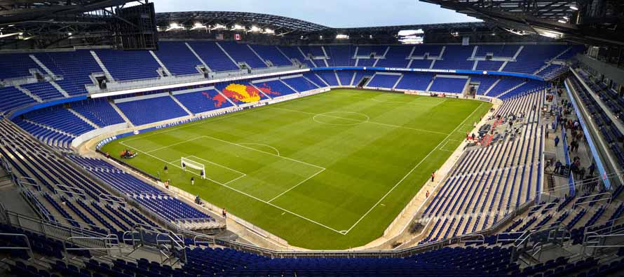 Inside empty Red Bull Arena New York
