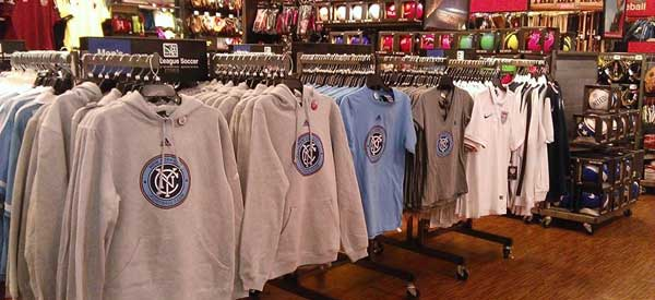 A healthy supply of New York City FC Merchandise has begun to circulate throughout the five borroughs.
