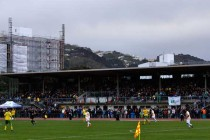 The main stand of Newton Park Stadium
