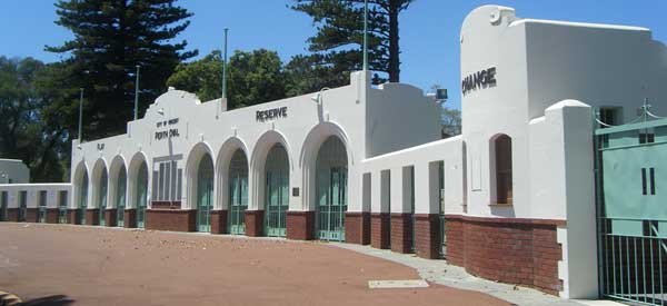 The iconic gate to the former Perth Oval cricket stadium has still been preserved to celebrate the ground's history.