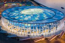 Aerial view of FC Nizhny Novgorod stadium