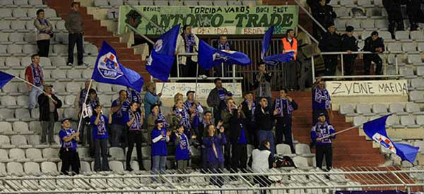 Nk Slaven Belupo supporters inside the stadium