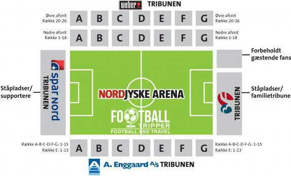Nordjyske Arena Seating Map