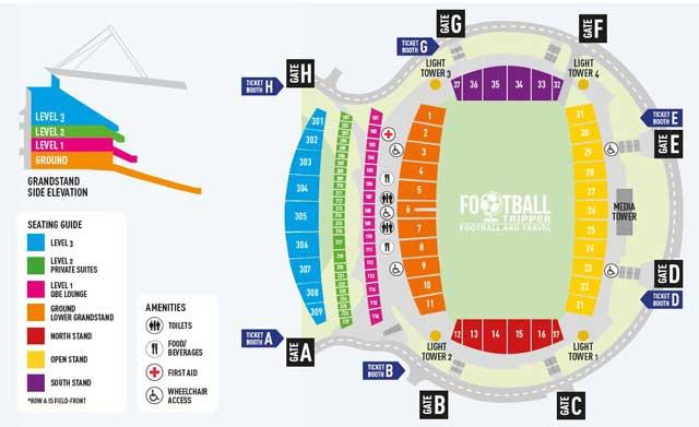 Map of North Harbour Stadium