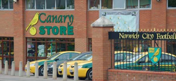 Exterior of Norwich City club shop