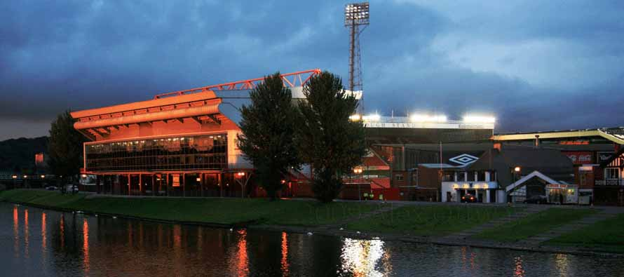 City Ground from across the River Trent