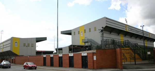 The recognisable exterior from Nott's County's Meadow Lane.