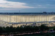Stade de Bordeaux at night