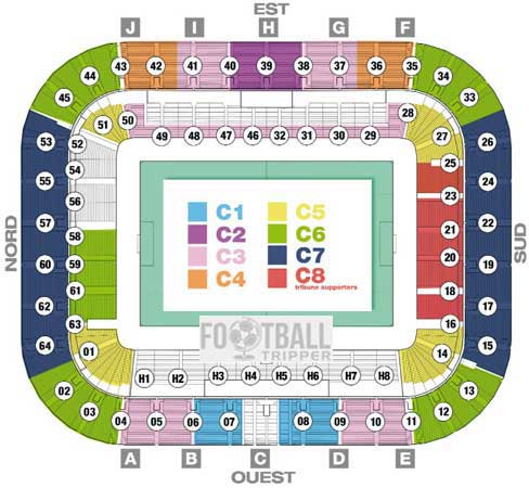 Seating plan for Bordeaux's new stadium