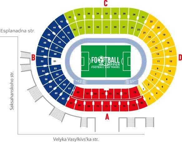 Seating Chart for Ukraine's National Stadium