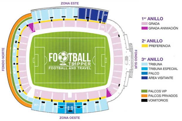 Estadio Nuevo José Zorrilla seating chart