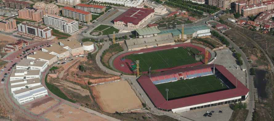 aerial view estadio los parajaritos
