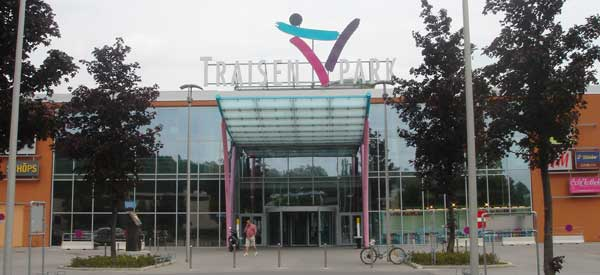 Entrance to Traisenpark stadium