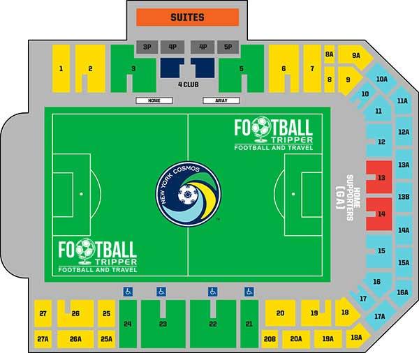 James M. Shuart Stadium Seating Plan