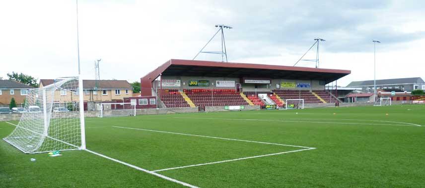 Artistic shot of Ochilview's main stand
