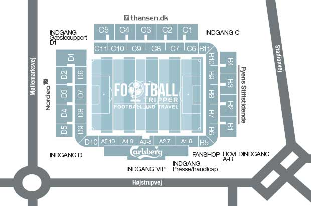 Odense Stadion Seating Chart