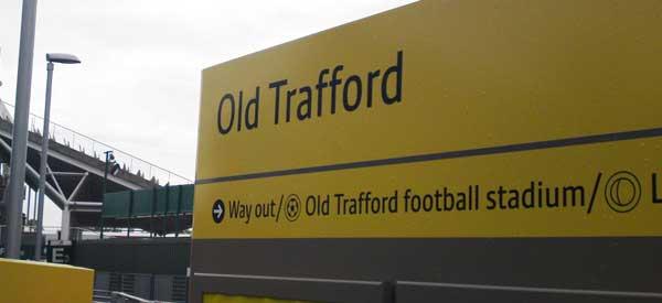 Old Trafford Metrolink Sign
