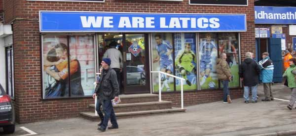 The Oldham club shop located in...Oldham! You guessed it.
