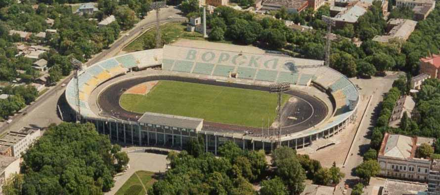 aerial view of stadion vorskla