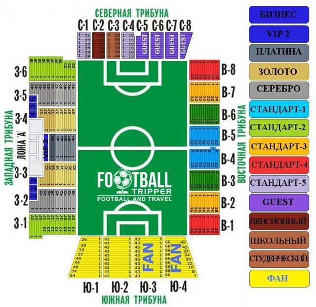 Olimp 2 Stadion seating chart