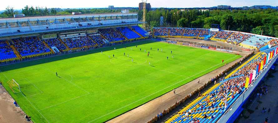 Aerial view of Olimp2 Stadium