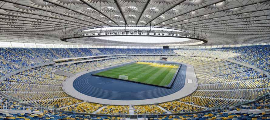 inside Ukrainian olympic stadium