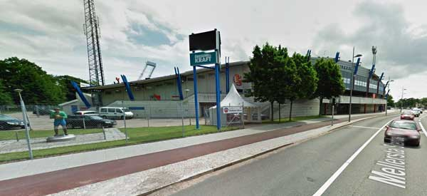 Exterior of Olympia Helsingborg football ground