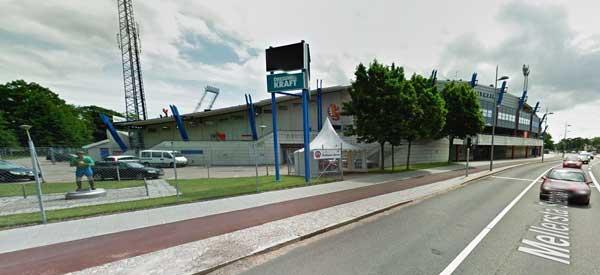 Exterior of Olympia Helsingborg football ground
