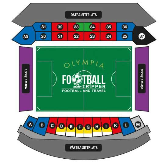 Olympia Helsingborg Stadium chart