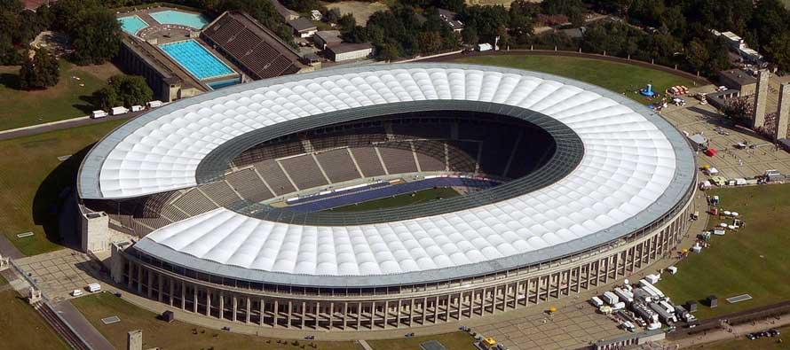 Olympiastadion Berlin Aerial