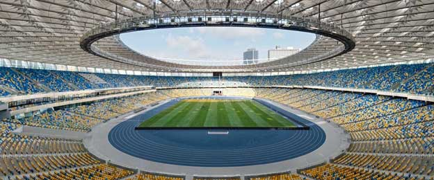 Inside Ukraine's National Stadium