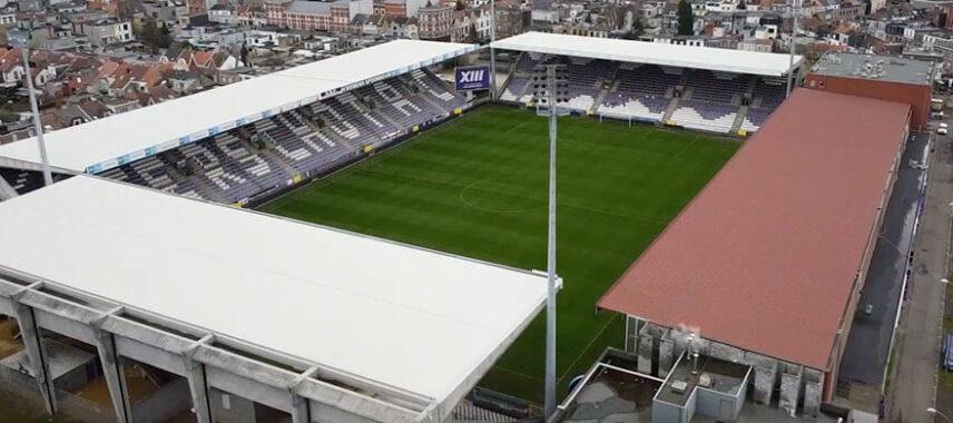 Aerial view of Olympisch Stadion home to KFCO Beerschot Wilrijk