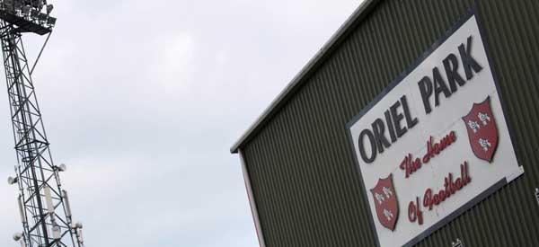 Oriel Park Sign.