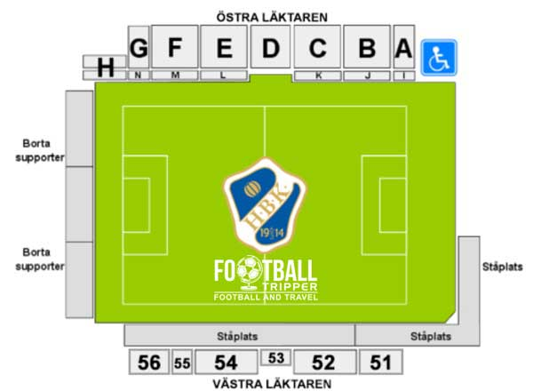 Örjans Vall seating plan