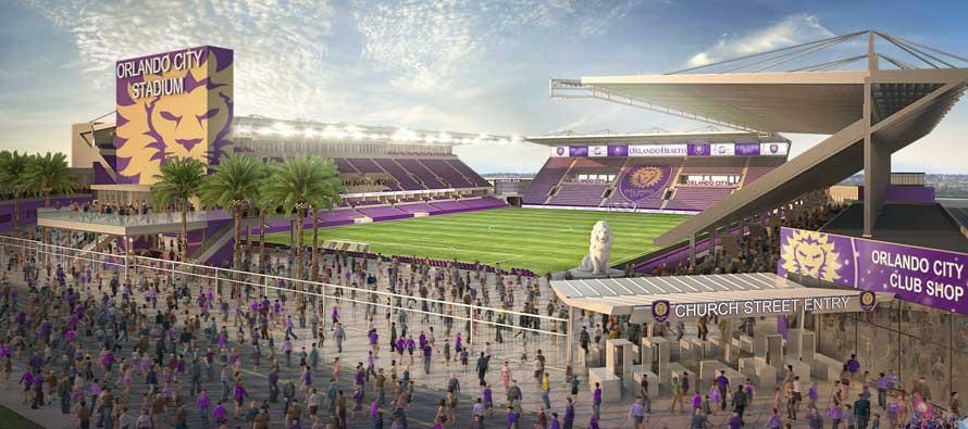 External render of Orlando FC's stadium