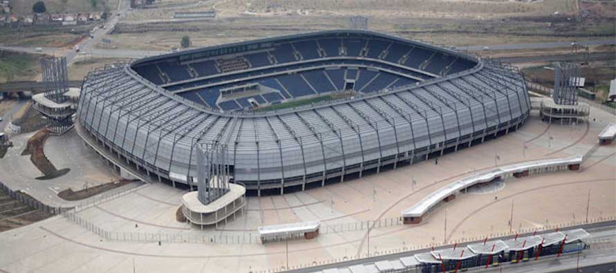 Aerial view of Orlando Stadium, South Africa