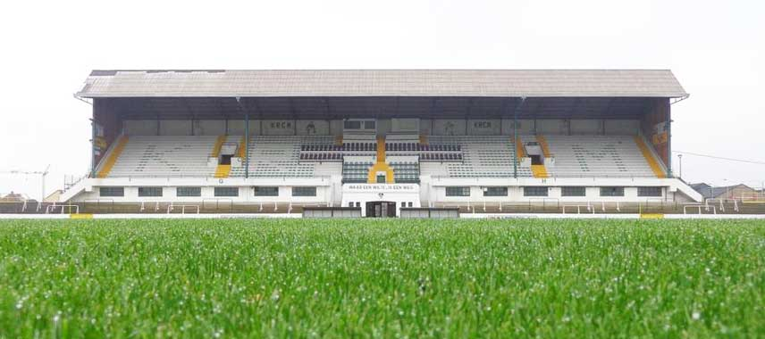The main stand at Oscar Vankesbeeck Stadion