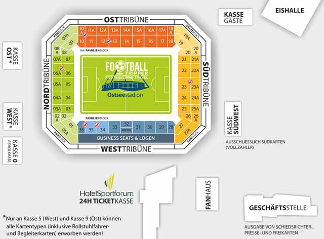 Ostseestadion seating plans