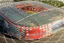 Aerial view of Otkrytie Arena